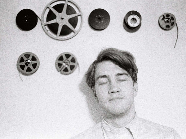 C.K. Williams - David Lynch with film reels, ca. 1966-70